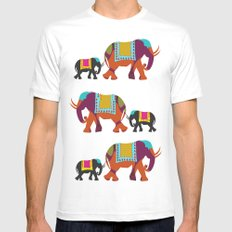 Elephants on the Streets of India Mens Fitted Tee White MEDIUM