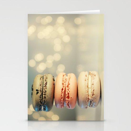 neapolitan macarons Stationery Cards
