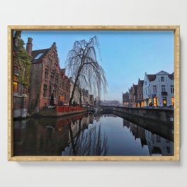 Belgium, City Canal 5 Serving Tray