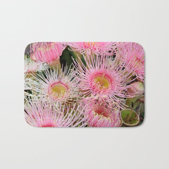 Pink Flowering Gum Bath Mat