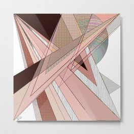 """""""Pink Shards"""" Metal Print"""