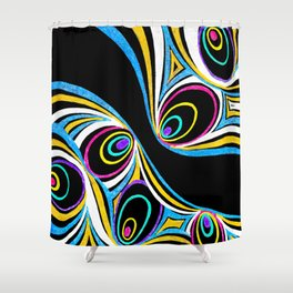 Interacting foreign bodies Shower Curtain