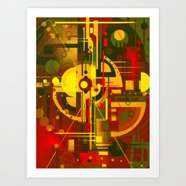 Scape of futuristic city   Art Print