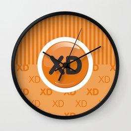 Orange Writer's Mood Wall Clock
