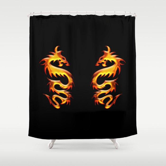 Golden Dragon Shower Curtain