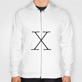 Letter X Typewriting Hoody