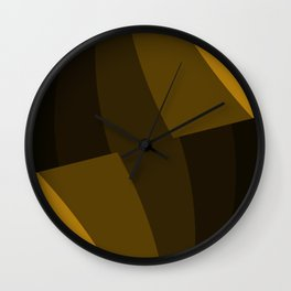 Abstract Curve Pattern Wall Clock