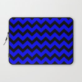 Chevron (Black & Classic Blue Pattern) Laptop Sleeve