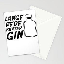 Lange rede Kurzer Gin Stationery Cards