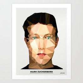 Mark Zuckerberg  Art Print