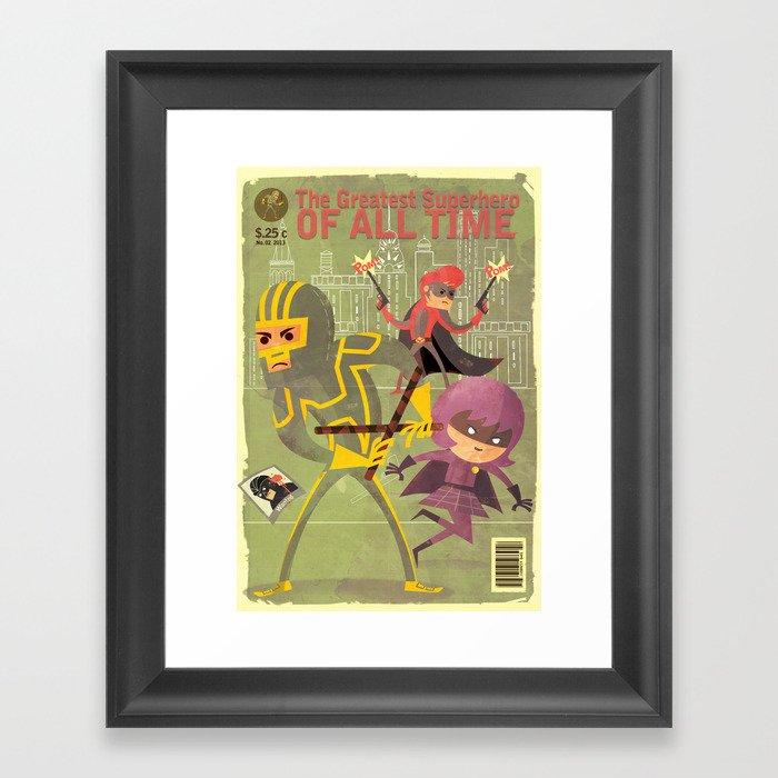 kick ass fan art 2 Framed Art Print