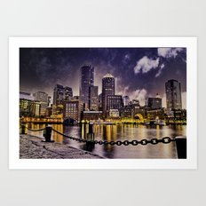 Skyline of Boston Harbor Art Print
