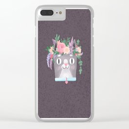 Spring cat Perkins Clear iPhone Case