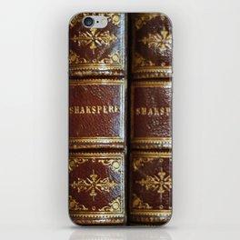 Shakespeare books iPhone Skin