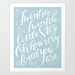 Twinkle Twinkle Little Star Blue Art Print