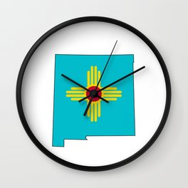 Turquoise New Mexico Wall Clock