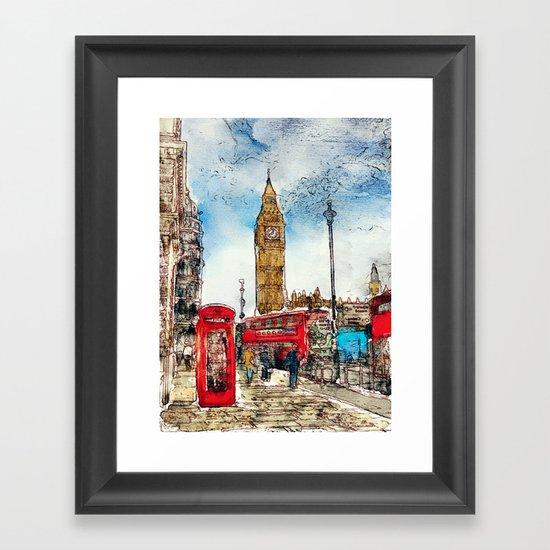 London Icons Framed Art Print