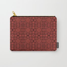 Aurora Red Geometric Carry-All Pouch