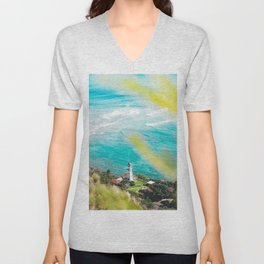 Diamond Head Lighthouse, HI Unisex V-Neck