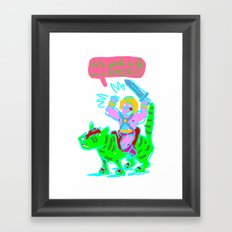 Masters of the universe of love 1 Framed Art Print