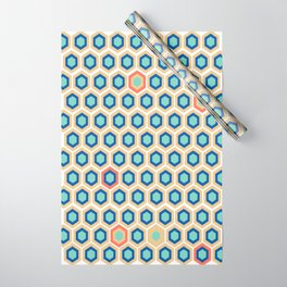 Digital Honeycomb Wrapping Paper