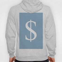 dollar sign on placid blue color background Hoody