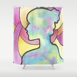 Galaxy Girl Shower Curtain