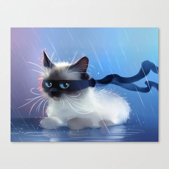 Fancy Ninja Cat Canvas Print