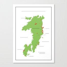 Anzac Map II Canvas Print