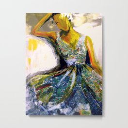 Klimts Summer Dress Metal Print