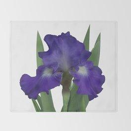 Stellar Lights, Deep blue-violet Iris Throw Blanket