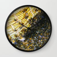 bees Wall Clocks featuring Bees! by Creative Lore