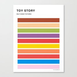 The colors of - Toy Story Canvas Print