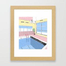 Pastel pool Framed Art Print