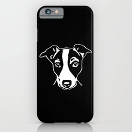 A HAPPY JACK  RUSSELL TERRIER CHRISTMAS FROM US AT MONOFACES  iPhone Case