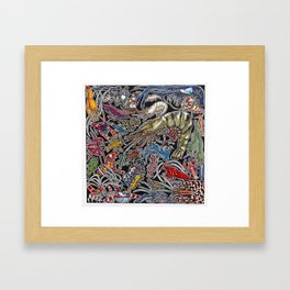 Prawns, gambas and shrimps for ocean lovers, marine biologists and scuba divers Framed Art Print