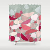 bed Shower Curtains featuring Sea Bed by Nic Squirrell