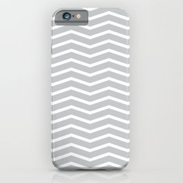 Light Grey Chevron Pattern 3 iPhone Case