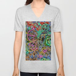 Welcome To The Machine Green ArtisticDerived from the interior of a WWI German submarine. Cool, righ Unisex V-Neck