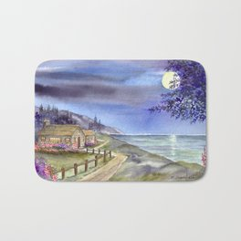 By The Light of The Silvery Moon Bath Mat