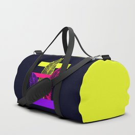 Neon Leaves #society6 #tropical Duffle Bag