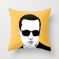 mad men Throw Pillows featuring Mad Men by Jeroen van de Ruit