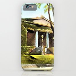 Providence Athenæum Library Benefit Street Landscape Painting by Jeanpaul Ferro iPhone Case