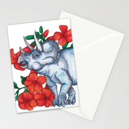 T is for Triceratops and Trumpet Vine Stationery Cards