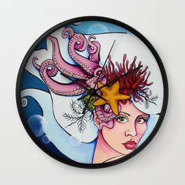 Nereid Kallianassa Wall Clock