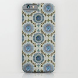 Watercolor Suzani in Blue iPhone Case