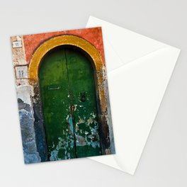 Magic Green Door in Sicily Stationery Cards