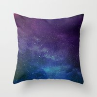 universe Throw Pillows featuring Universe by Space99