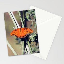 Orange Butterfly Stationery Cards