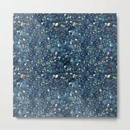 Aqua Blue Aurora Borealis Close-Up Crystal Metal Print